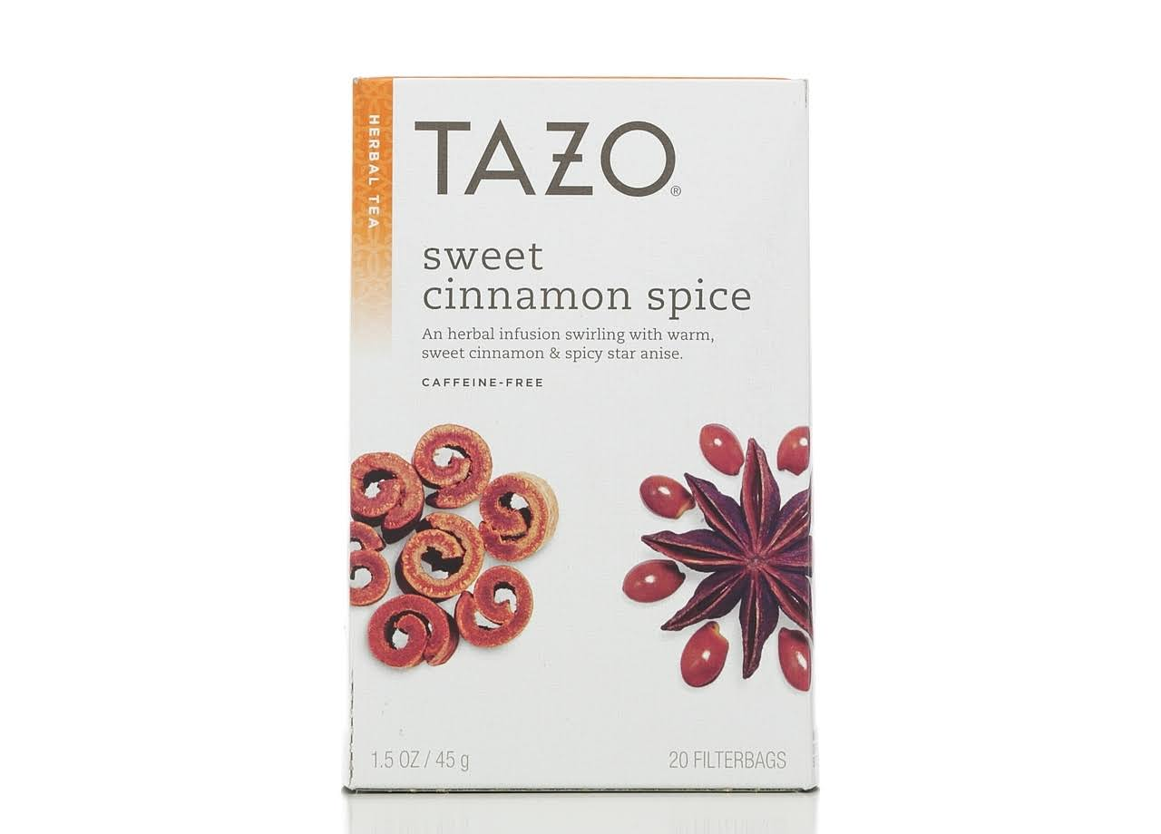 Tazo Sweet Cinnamon Spice Herbal Tea - 20 Bags, 45g