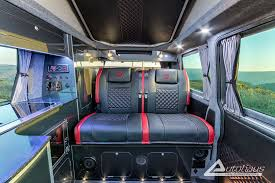 This Beautiful Natural Grey Metallic VW Campervan With Red Leather Was Made By Autohaus Campervans In Somerset SouthWest UK