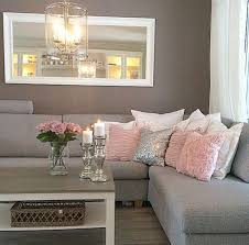 The Grey Couch With Blush Pink And Silver Pillows Horizontal Full Length Find This Pin More On Living Room Ideas