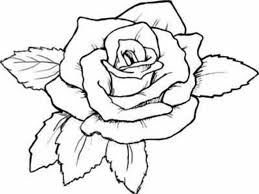 Rose Coloring Pages For Kids Archives Within Of Roses