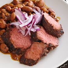 Coffee Rubbed Beef With Red Eye Beans