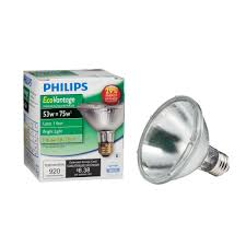 philips 75 watt equivalent halogen par30s dimmable spotlight bulb