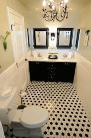 black and white tile bathroom decorating ideas of exemplary retro