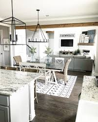 Farmhouse Style Open Layout With Kitchen Dining Room And Living Farmhousestyle Greatroom