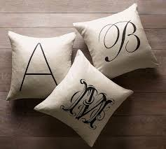 Pottery Barn Decorative Pillow Inserts by Personalized Alphabet Pillow Cover Pottery Barn
