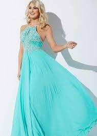 jovani 92605 mint fancy jeweled halter prom dress