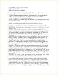 How To Write A Letter Of Intent For Graduate School Example Letter