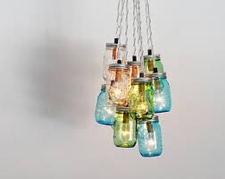 rainbow shaped jar chandelier rustic hanging