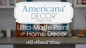 americana decor chalky finish waxes how to use waxes youtube