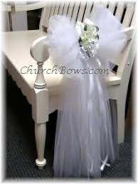 Ideas To Use Tulle In Church For Wedding Source churchbows
