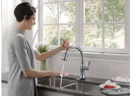 Delta Touch Faucet Replacement by Delta 9197t Ar Dst Cassidy Single Handle Pull Down Kitchen Faucet