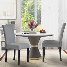 gotui 4 fußstuhl 2er set esszimmerstühle polsterstuhl wohnzimmerstuhl mit rückenlehne küchenstuhl mit eiche bein grau kaufen otto