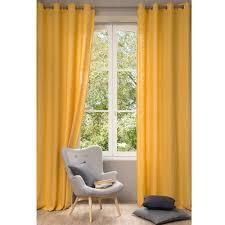 rideau chambre bebe garcon 9 rideau en lav233 jaune 130 x