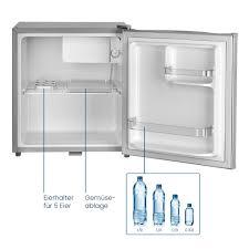 stillstern mini kühlschrank e 45l mit abtauautomatik schloss und frostfach leise ideal für küche büro schlafzimmer hotels und kleine wohnungen