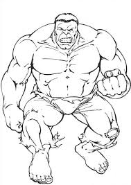 Hulk Prepares To Hit Coloring Pages For Kids Printable