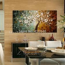 baum rot gold blume malerei bemalte leinwand ölgemälde 3d textur wand kunst bilder für wohnzimmer quadros caudro decor