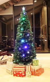 75 FT PRE LIT MULTI COLOR LED FIBER OPTIC CHRISTMAS TREE