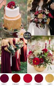 Burgundy Crimson Plum For An Elegant Autumn Wedding Colour Inspiration And Gold Cake