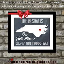 Housewarming Gift Personalized State Map Print Quote Location New Address Names Our First Home Unique