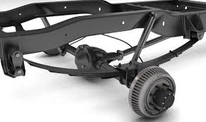 100 Truck Parts PICKUP TRUCK CHASSIS 4WD 3D Model