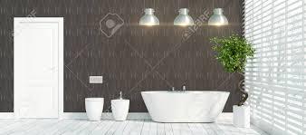 schöne moderne badezimmer mit anlage 3d rendering