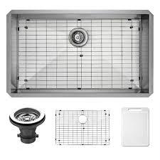 Overstock Stainless Kitchen Sinks by Vigo 32 Inch Undermount Stainless Steel Kitchen Sink Grid And