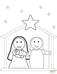 Click The Christmas Nativity Scene Coloring Pages