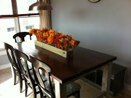 Country Kitchen Table Centerpiece Ideas by The Quaint Cottage Diy Rustic Farmhouse Table Finish
