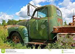 Old One Ton Truck Parked In The Weeds Stock Photo - Image Of ...