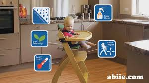 Abiie High Chair Vs Stokke by Abiie Beyond Junior Wooden High Chair Y Chair Youtube