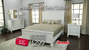 jerome s furniture sandy beach bedroom collection youtube