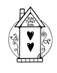 Home Sweet Bird House Coloring Pages
