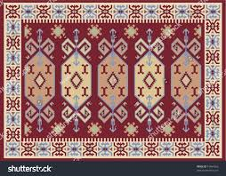 Traditional Turkish Carpet Stock Vector Royalty Free 91464356