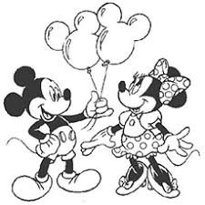 Mickey Giving Balloons To Minnie Mickeys Is Ready Paint Coloring Pages Free Printable