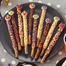 Halloween Pretzel Rod Treats by Halloween Pretzels Halloween Pretzels Pretzel Sticks And Pretzels