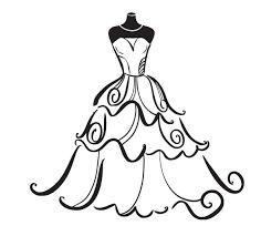 Bridal Dress Silhouette Clipart Kid