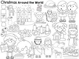 Christmas Around The World Book List Freebie And Free Coloring Page