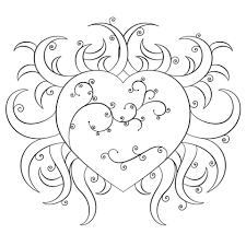 Fancy Heart Coloring Page