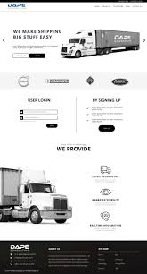 Modern, Professional, Trucking Company Web Design For Dape ...