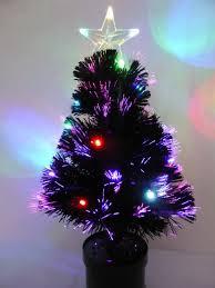 7ft Fiber Optic Christmas Tree by 60cm Black Fibre Optic Christmas Tree With Multi Coloured Led