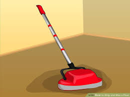 Burnishing Floors After Waxing by How To Strip And Wax A Floor With Pictures Wikihow