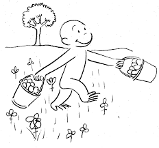 Special Coloring Pages Curious George Awesome Color Design Ideas