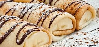 dessert rapide chocolat banane idée de recette rapide facile et simple crêpe banane chocolat