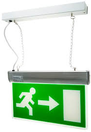 rs pro led emergency exit sign 3h maintained right and left