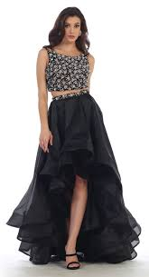 prom two piece set homecoming formal high low dress dressoutlet