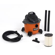 RIDGID 6 Gal 3 5 Peak HP Wet Dry Vac WD0670 The Home Depot