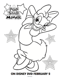 Free Mickey Mouse Clubhouse Coloring Pages Daisy Pop Star Minnie