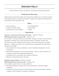 Tennant Creek Primary School Disability Support Worker Resume Sample