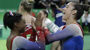 Simone Biles Floor Routine Score by Biles Wins Gold Raisman Silver In A Duel For Their Last Medals