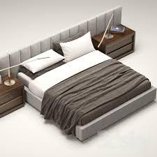 3d models Bed RH Modern custom vertical channel extended